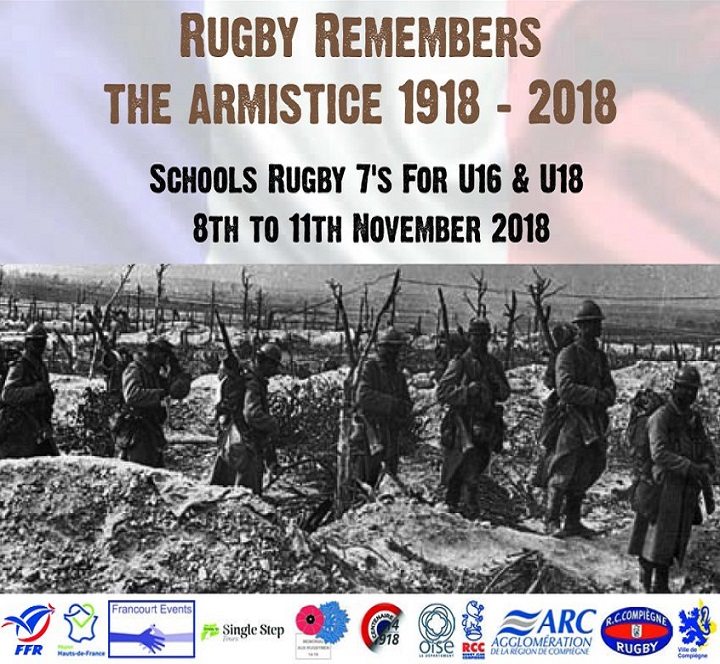 Rugby Remembers The Armistice 1918 - 2018, France